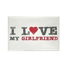 I Love (heart) My Girlfriend Rectangle Magnet
