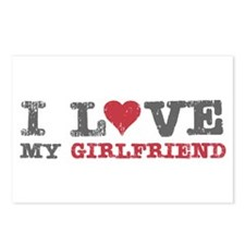I Love (heart) My Girlfriend Postcards (Package of