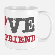 I Love (heart) My Girlfriend Mug