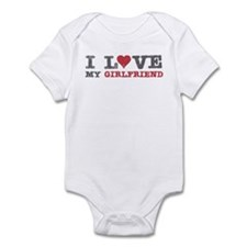I Love (heart) My Girlfriend Infant Bodysuit