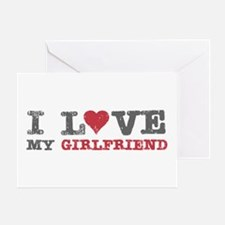 I Love (heart) My Girlfriend Greeting Card