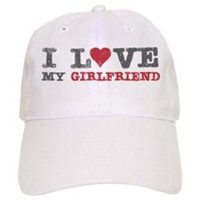 I Love (heart) My Girlfriend Baseball Baseball Cap