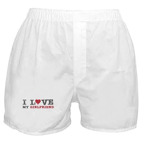 I Love (heart) My Girlfriend Boxer Shorts
