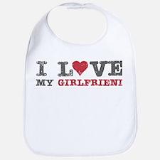I Love (heart) My Girlfriend Bib
