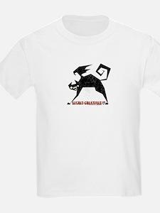 Halloween Bat Cat Kids T-Shirt