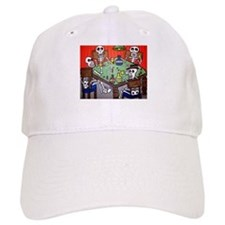 Day of the Dead Poker Player Baseball Cap