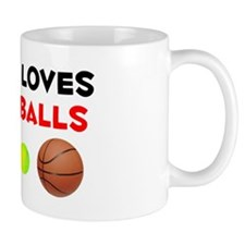 Loves Dwayne's Balls (W) Mug
