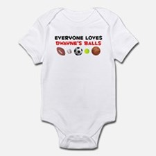 Loves Dwayne's Balls (W) Infant Bodysuit