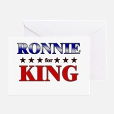 RONNIE for king Greeting Card