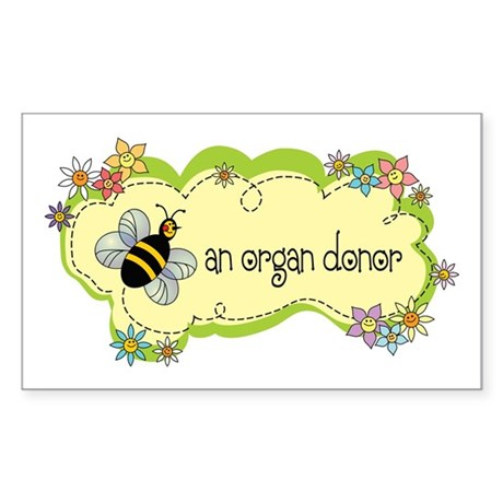 Donor Bug Rectangle Sticker