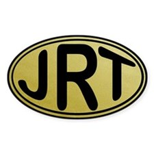 JRT Gold Oval Decal