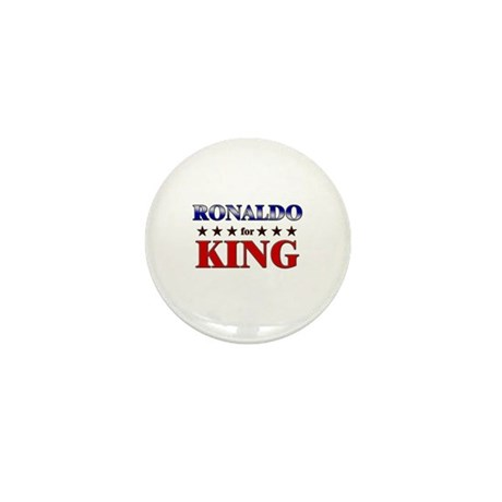 RONALDO for king Mini Button