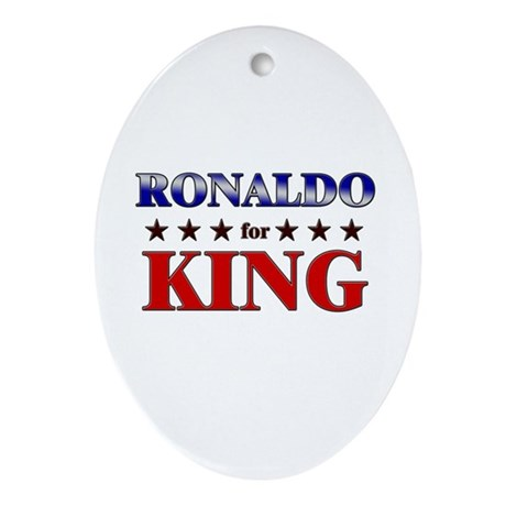 RONALDO for king Oval Ornament
