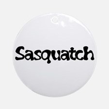 Sasquatch Text Ornament (Round)