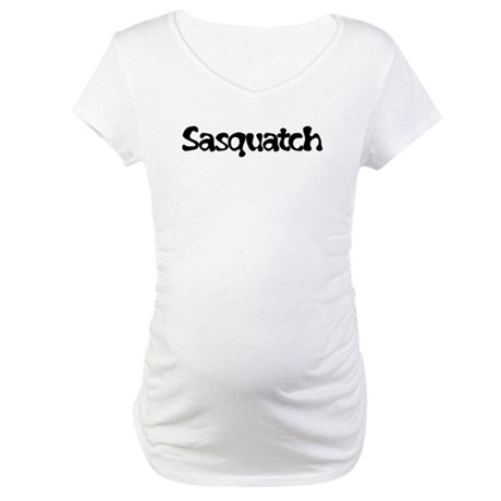 Sasquatch Text Maternity T-Shirt
