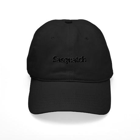 Sasquatch Text Black Cap