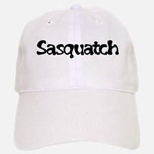 Sasquatch Text Baseball Baseball Cap