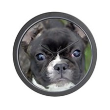 Brindle french bulldog Wall Clock