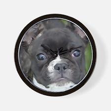 Cute Brindle french bulldog Wall Clock