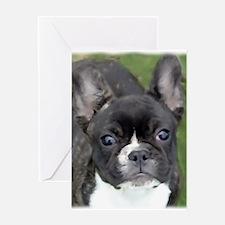 Cool Brindle french bulldog Greeting Card