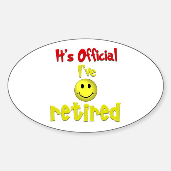 Officially Retired.:-) Oval Decal