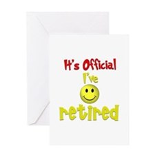 Officially Retired.:-) Greeting Card