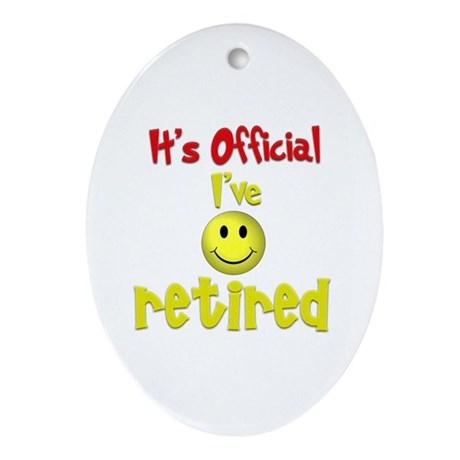 Officially Retired.:-) Oval Ornament