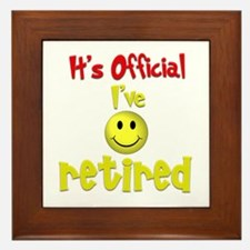 Officially Retired.:-) Framed Tile
