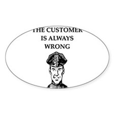 police gifts t-shirts Oval Decal