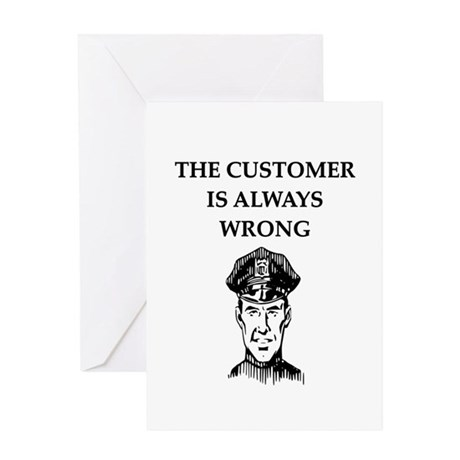police gifts t-shirts Greeting Card