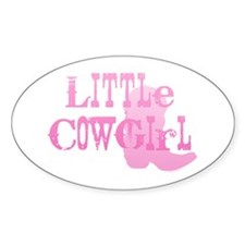 Little Cowgirl Oval Decal