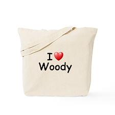 I Love Woody (Black) Tote Bag