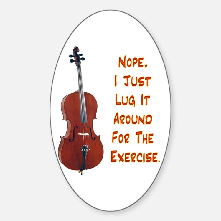 Cello for the Exercise Oval Decal