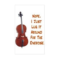 Cello for the Exercise Rectangle Decal