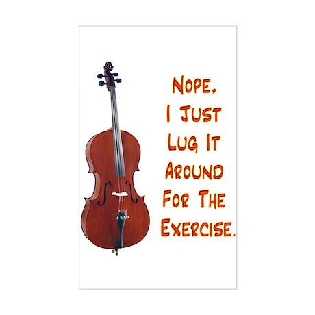 Cello for the Exercise Rectangle Sticker