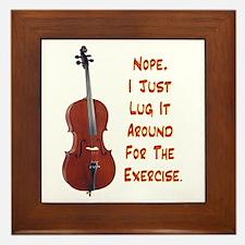 Cello for the Exercise Framed Tile
