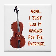 Cello for the Exercise Tile Coaster