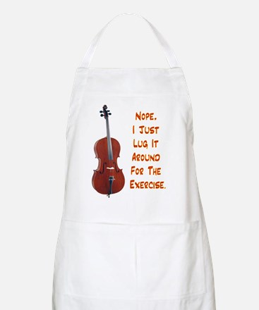 Cello for the Exercise BBQ Apron