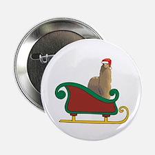 """Santa's Sleigh Alpaca 2.25"""" Button"""