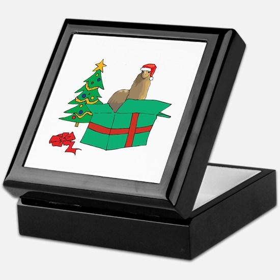 Alpaca For Christmas Gift Keepsake Box