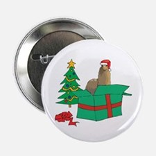 "Alpaca For Christmas Gift 2.25"" Button"