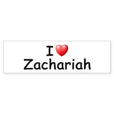 I Love Zachariah (Black) Bumper Bumper Sticker