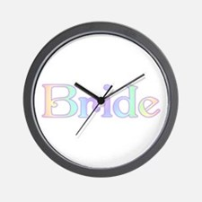 Rainbow Bride Wall Clock