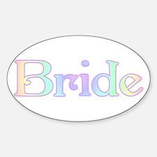 Rainbow Bride Oval Decal