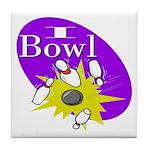 I Bowl Tile Coaster