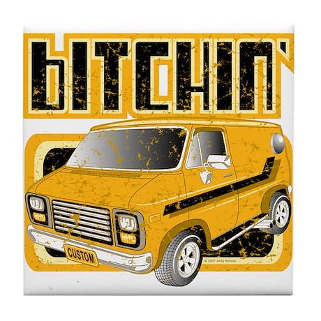 70s Retro Chevy Van Tile Coaster