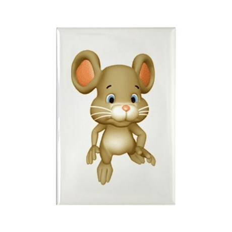 Quiet Brown Mouse Rectangle Magnet (10 pack)