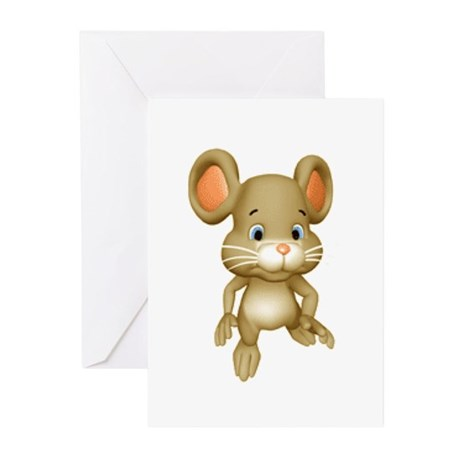 Quiet Brown Mouse Greeting Cards (Pk of 10)