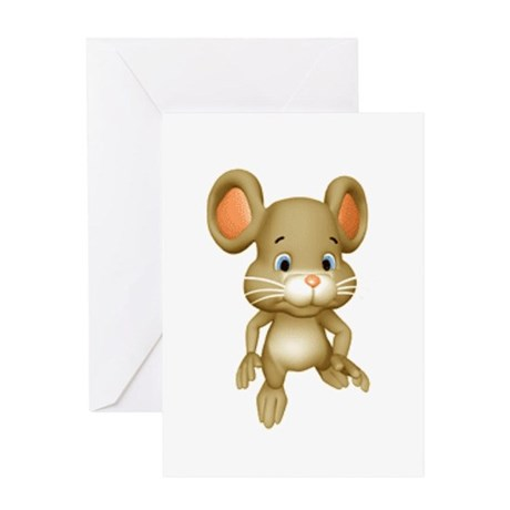 Quiet Brown Mouse Greeting Card