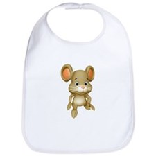 Quiet Brown Mouse Bib